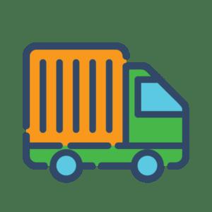 значок фургона для раздела доставки