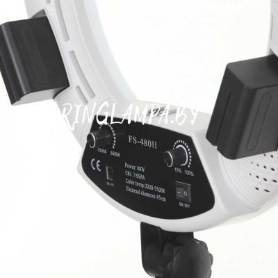 для кольцевых ламп можно использовать аккумуляторы