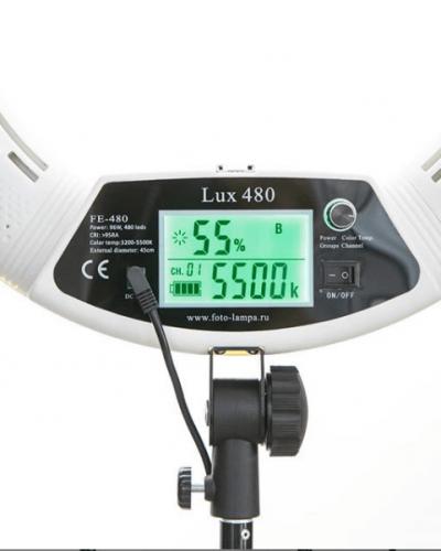 дисплей круглой лампы люкс 480